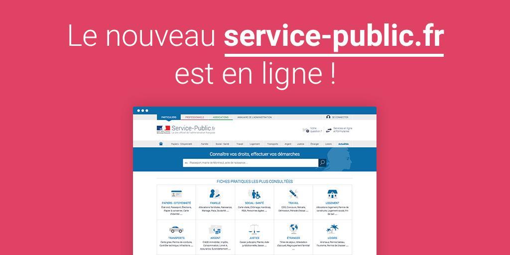 Le nouveau service-public.fr est en ligne https://t.co/TKv5fOAQpW http://t.co/mPpMlAI6wk