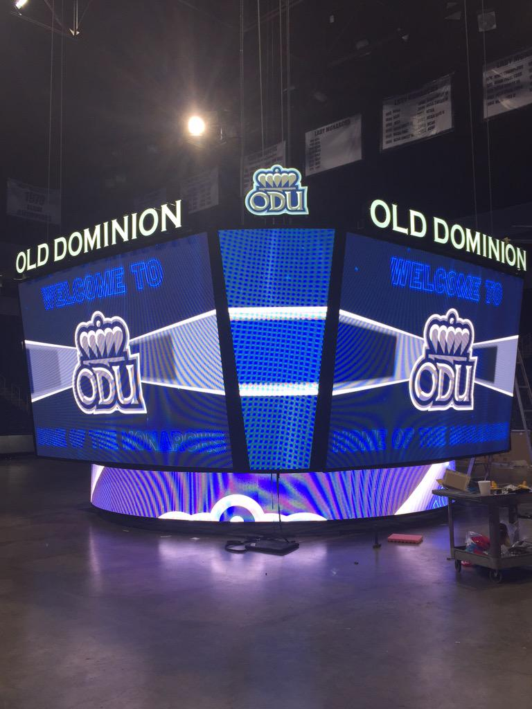 The scoreboard is on! #ODUSports http://t.co/YM4yxi18do