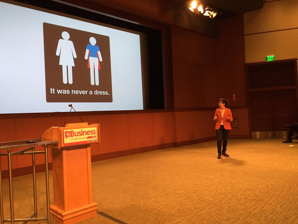 It was never a dress... Talking about women in tech and creativity at #bos2015 <3 <3 @taniakatan http://t.co/iJVX2bPe5n