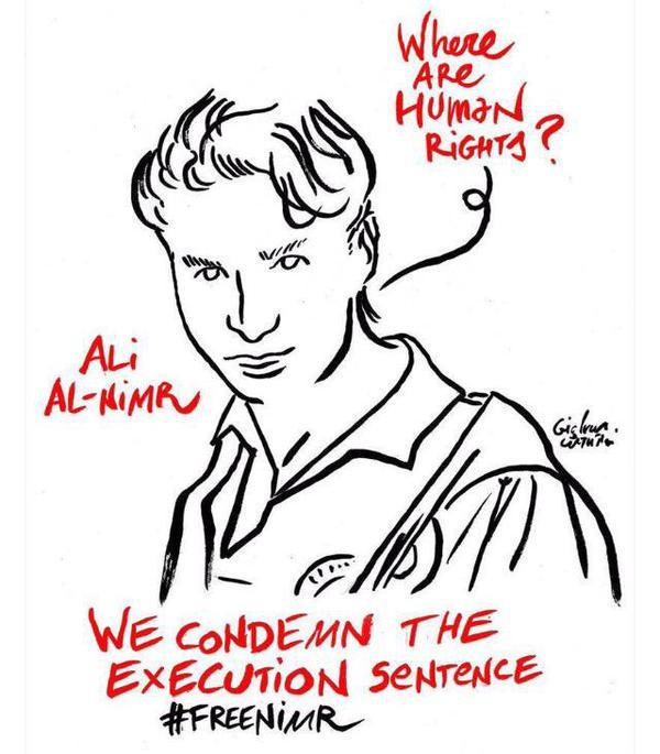 """#Movements: """"#SaudiArabia: Stop the crucifixion of #AliMohammedAlNimr http://t.co/gijJHxYJqL http://t.co/xdMx9awR9A"""