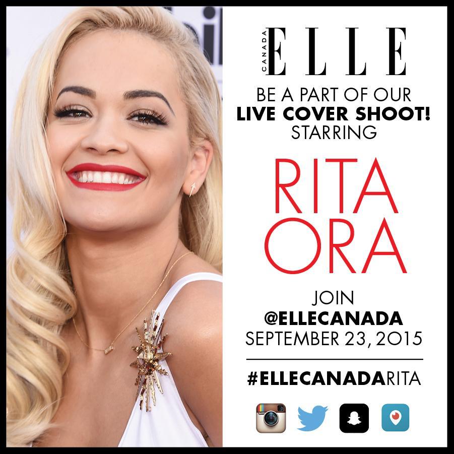 RT @ElleCanada: BIG NEWS! Join us on our LIVE cover shoot with @RitaOra http://t.co/JFJPCVPnRG #ellecanadarita @rimmellondoncan http://t.co…