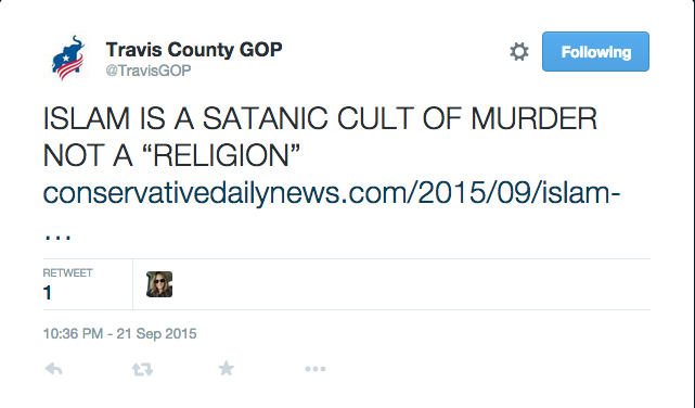 Hey @TravisGOP, why did y'all delete this tweet? http://t.co/lbpyKCN1Dw http://t.co/X55tkWwa04