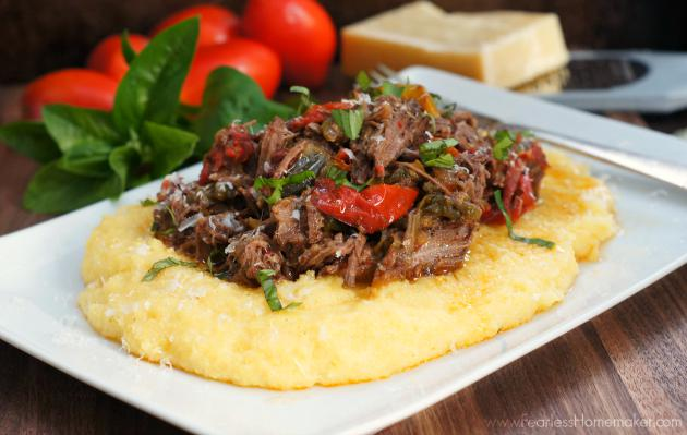 {NEW} Slow-Cooker Beef + Peppers with creamy polenta. Perfect fall comfort food! http://t.co/4aABpaFmpA http://t.co/XHa7r1vwpH