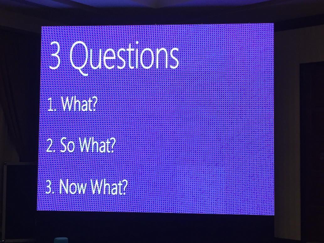 #dts2015 @MohanSawhney nos recomienda que toda reunión debe tener estas 3 partes: http://t.co/chW63fMLj3
