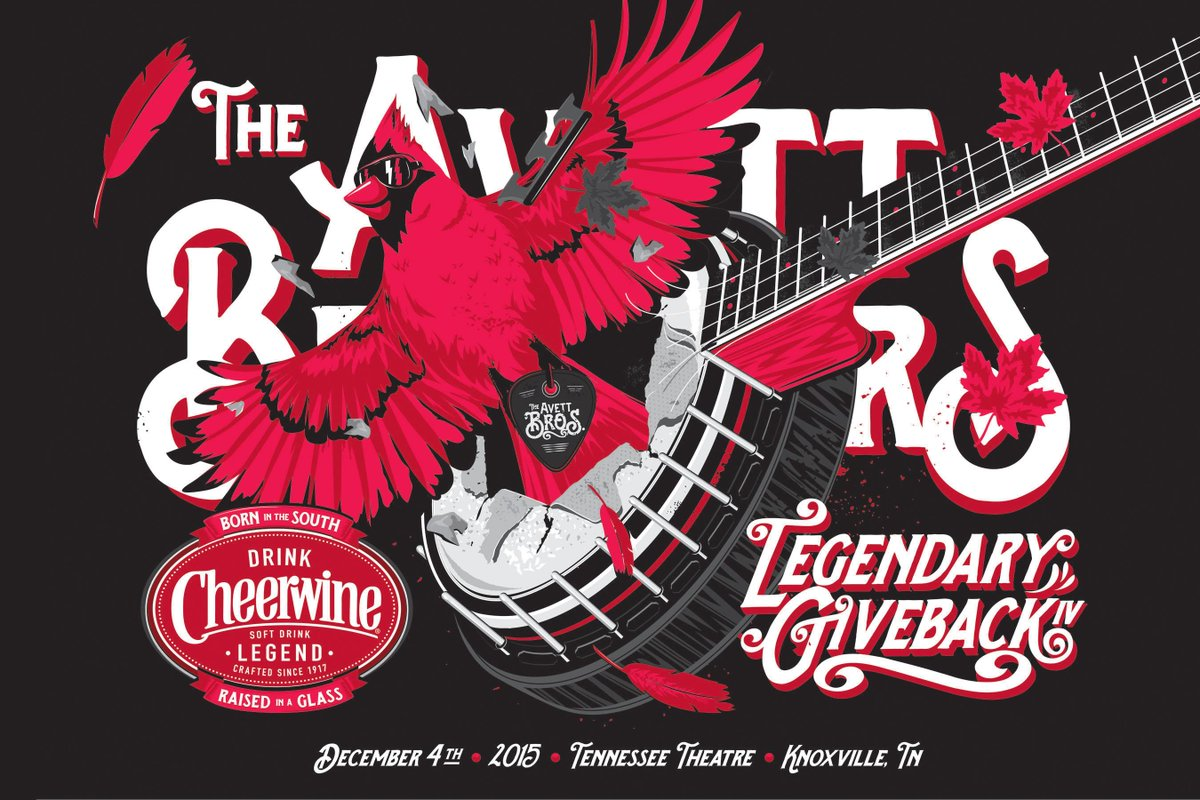 Join us Dec. 4 for @TheAvettBros​ & @DrinkCheerwine​ present: The Legendary Giveback IV! Tickets on sale Friday @ 10! http://t.co/JjlOz7WnS6