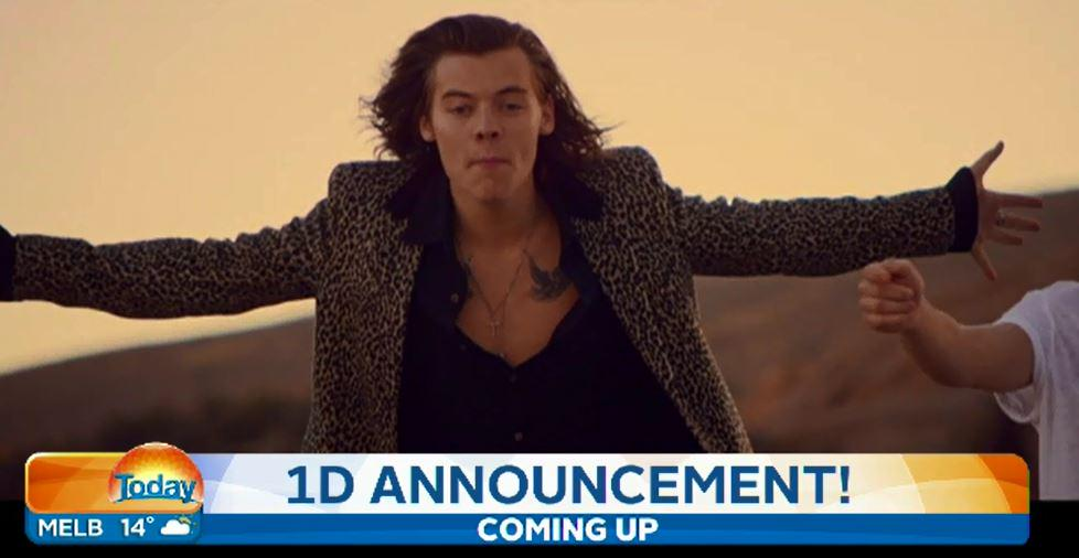 AHEAD: @onedirection has a MASSIVE announcement that we'll reveal later on the show! #Today9 http://t.co/QAAVn9VenJ