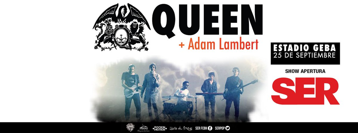 Para los que recién se conectan, les contamos que fuimos elegidos como la banda apertura de QUEEN + ADAM LAMBERT! http://t.co/RBGoMXs3GY