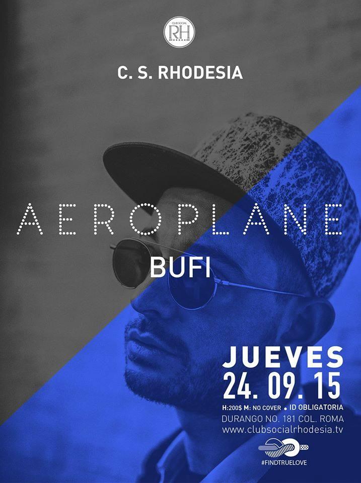 ✈ ¡Este jueves Aeroplane por primera vez en Rhodesia Club Social!