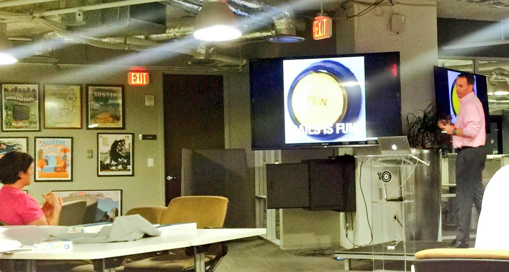 Learning about the fun of Rails with @cory_foy at @austinonrails http://t.co/L5cqNYB7ze