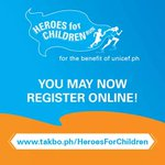RT @justmeAnzhe: For the online registration, you may go to: http://t.co/8k04N5eynd #HeroesForChildrenRun @annecurtissmith http://t.co/8XIF…