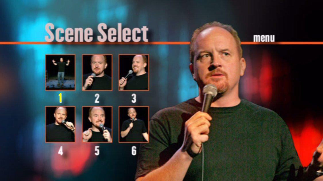 "It's time to appreciate the usefulness of the Scene Select menu on Louis CK's ""Chewed Up"" DVD again. http://t.co/1142KZ4vrh"