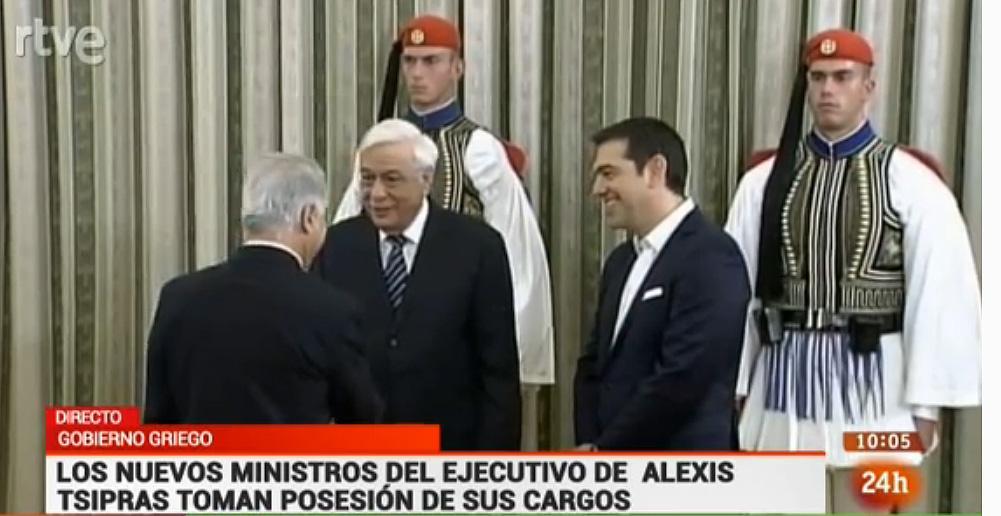 Los nuevos ministros del gobierno de grecia toman for Ministros del gobierno