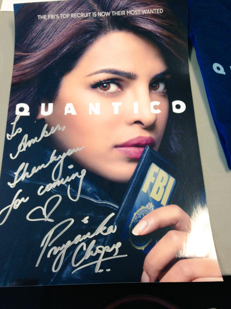 What a lovely welcome to #Quantico from mz @priyankachopra herself. ALMOST better than segways