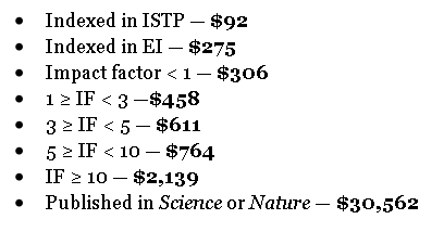 You know how f*cked Journal Impact Factor is when e.g. Chinese researchers are  rewarded to publish in Science/Nature http://t.co/s4vuEEd7l5