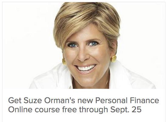 Title Description Keywords; October 01, Suze Orman's Personal Finance Online Course | Get Started Today. Make Your Money Work For You. A personalized online learning experience with Suze Orman–America's personal finance expert.