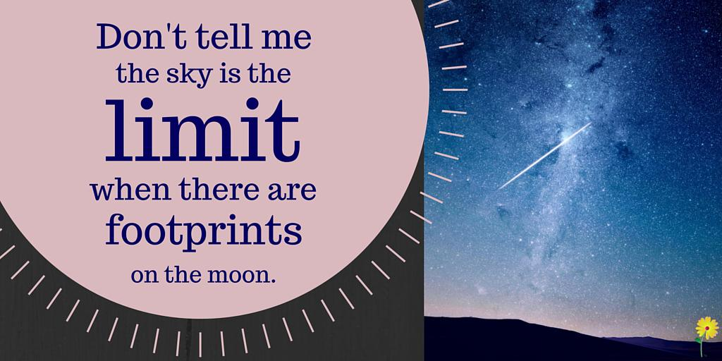 Don't tell me the sky is the limit when there are footprints on the moon.  #sororitylife #greeklife #sisterhood http://t.co/wDqWTgSYj7