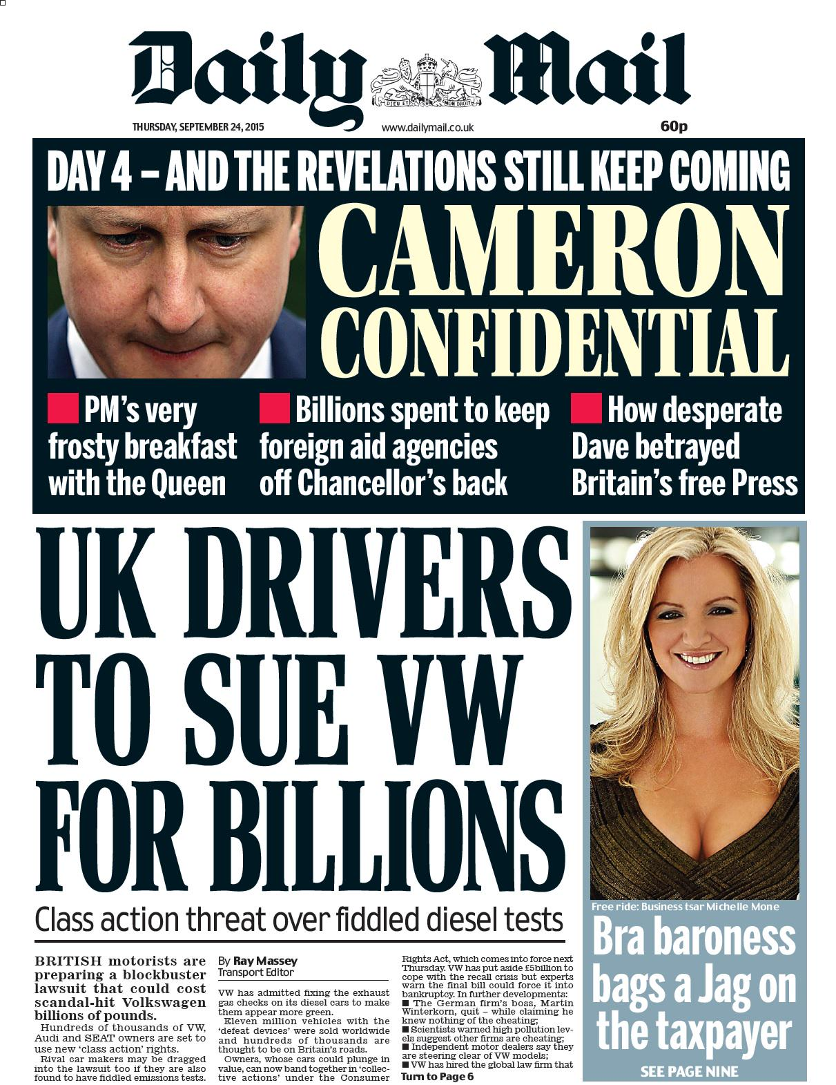Last night, editor-in-chief paul dacre said: my warmest congratulations to the mail on sunday