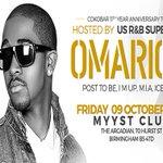 @louischivat US R&B Star Omarion @ Myyst, Birmingham. #highsocietyFridays 9th Oct Tkts>http://t.co/zGJFnqXUg4 http://t.co/gyDn6kDflz