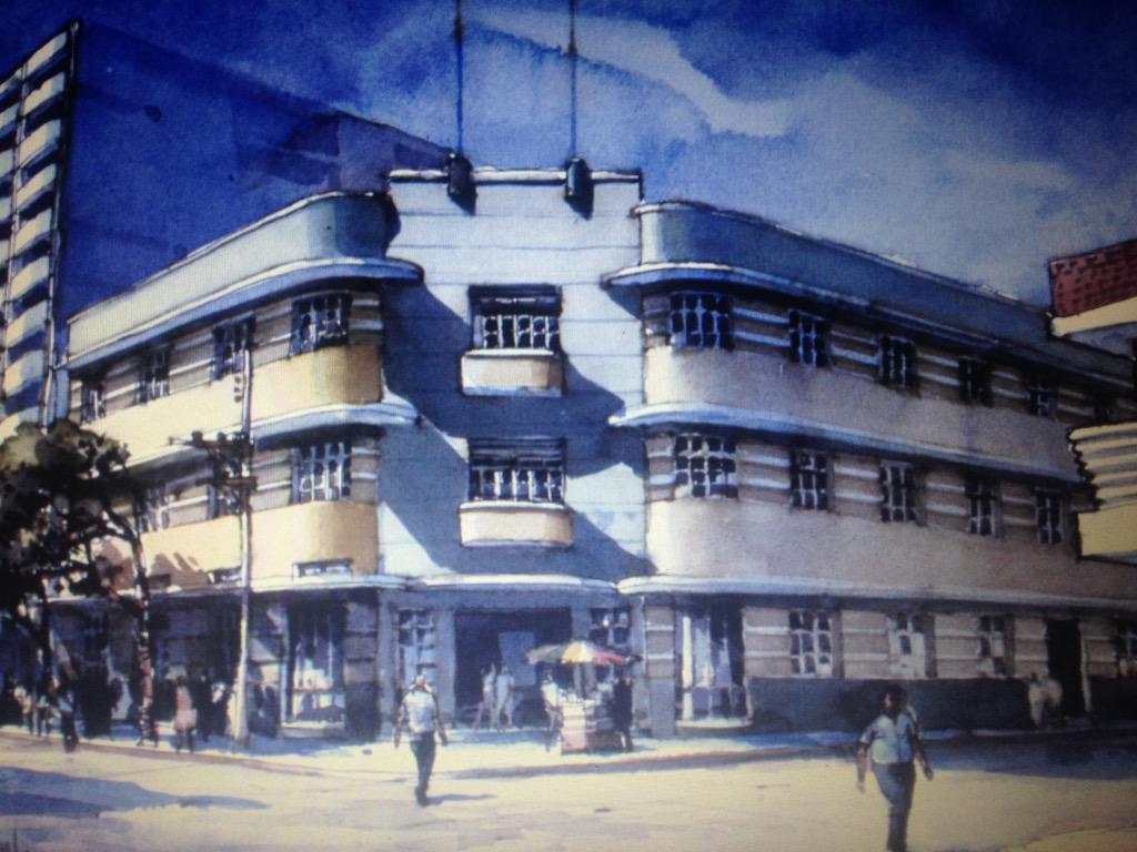 Joyas arquitectónicas ArtDeco de Barranquilla. Manuel Carrerá, uno de los duros de la forma. #AmorPorElPatrimonio http://t.co/4j7O6OVpTK