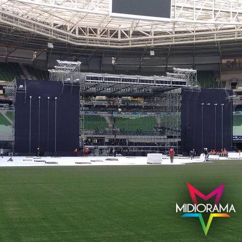 #BomDia! Se liga na montagem do palco do show de #KatyPerry no #AllianzParque. Ansiosos para o show de amanhã? =D http://t.co/4SBxiiAxMI