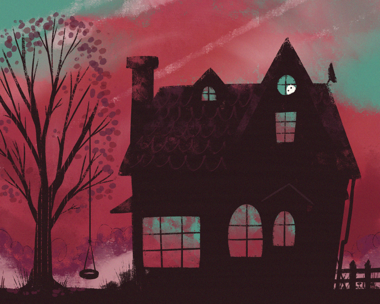 'A Haunted House' #Ghosting ●﹏● #art #ghost #kidlitart http://t.co/fUWZHMxNHw