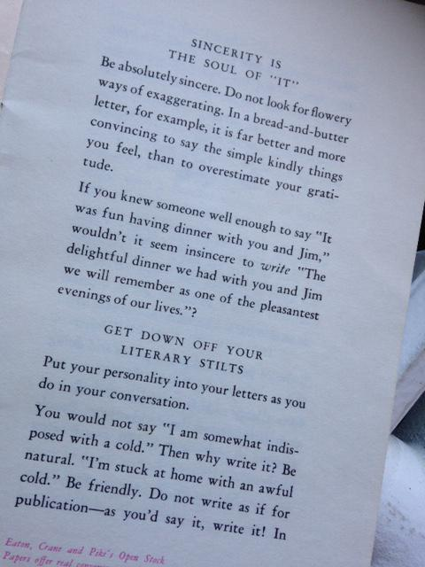 #tbt to 1946, when we made handbooks on how to write great letters—some advice never changes! http://t.co/CUEK8ffV0e