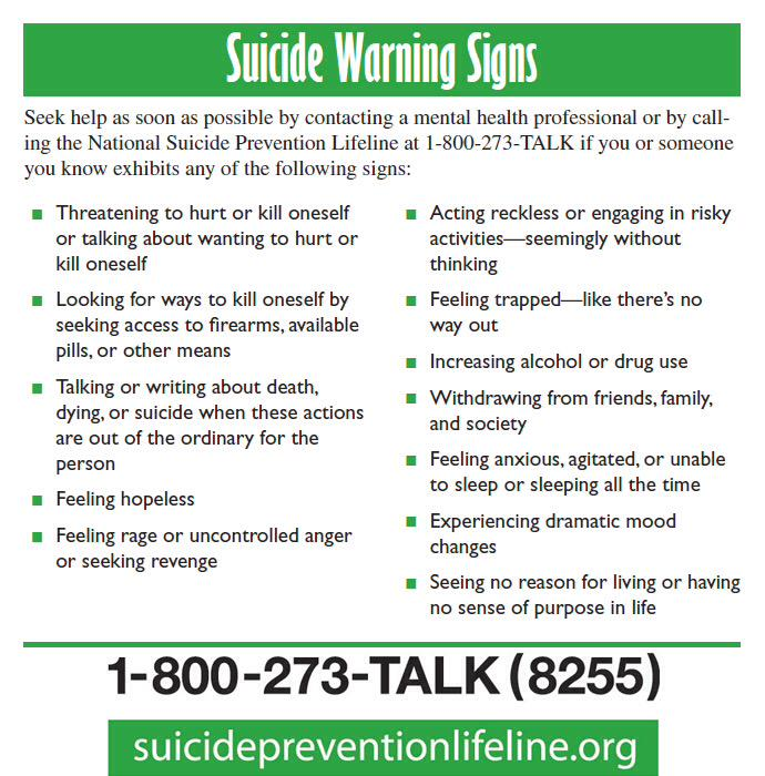 #Suicide is a leading cause of death among #college students. Know the warning signs and where to find help. #KSOCTV http://t.co/vsyyUYVbZo
