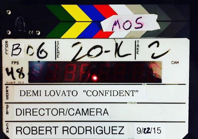 Loved filming an epic video with the fearlessly talented and #CONFIDENT @Ddlovato! http://t.co/TMwKAhOYqT