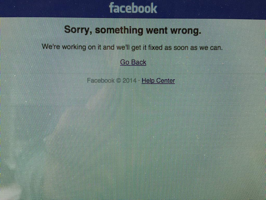 Friends. Don't panic. Mark tripped over a cord. It's plugged back in now. #facebookdown #Facebook http://t.co/au869nOb0s