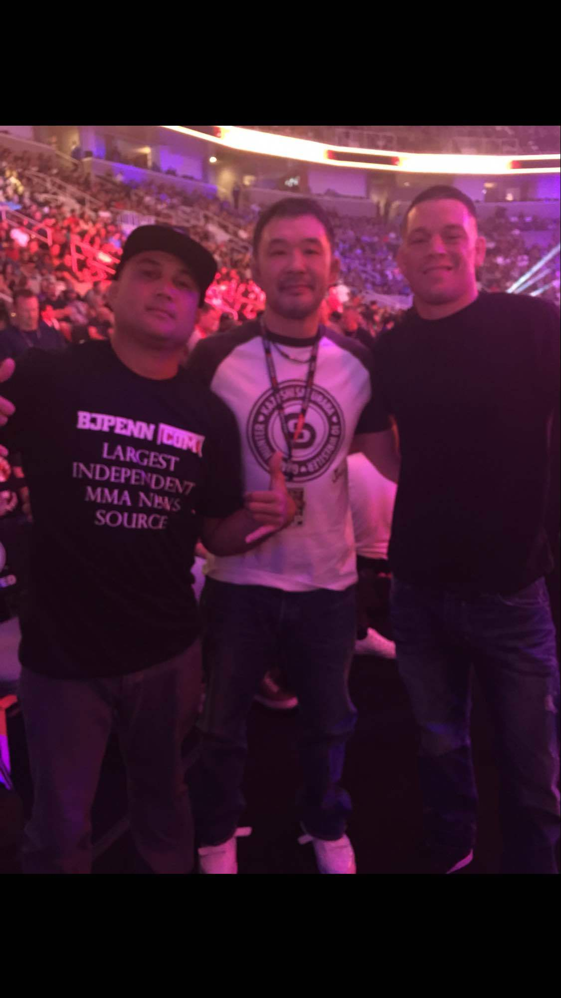 With bj and sakuraba at the fights https://t.co/HmKrPCmdHX http://t.co/x3FD7QNYHr