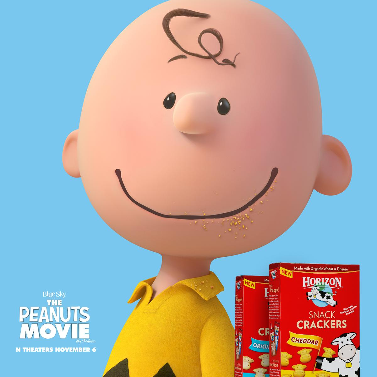 It's hard for The Peanuts Gang to resist Horizon snacks. Tag a photo of your child's Horizon #crumbface on Instagram! http://t.co/vqb8aZ0QGX