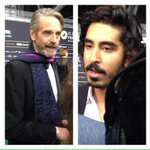 Jeremy Irons & Dev Patel at #zff2015 opening of Ramanujan film #TheManWhoKnewInfinity