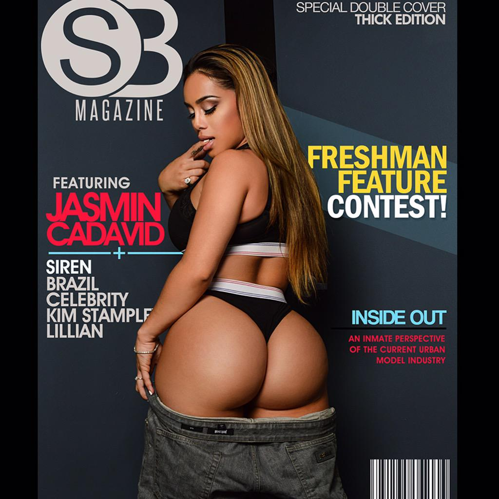"""The fall 2015 """"Sexy Fit and Thick""""  issue of SB magazine feat @Jasmincadavid is on sale NOW at http://t.co/BztWcfDtgl http://t.co/l5UrlKnIqA"""