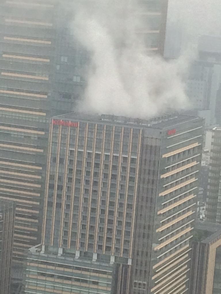 【訂正】KONAMI社屋、めっちゃ蒸気出てる http://t.co/G1qf2R83Ti