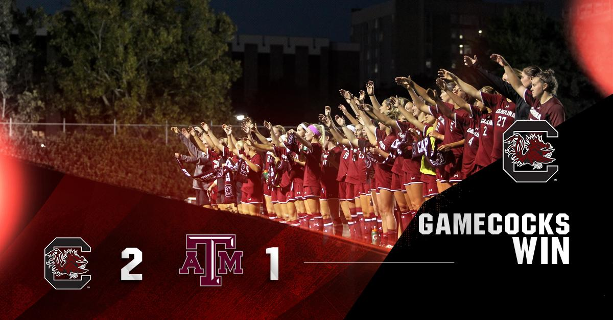 WHAT A FINISH! #Gamecocks rally to beat #4 Texas A&M! http://t.co/fHzk1UX5Sv