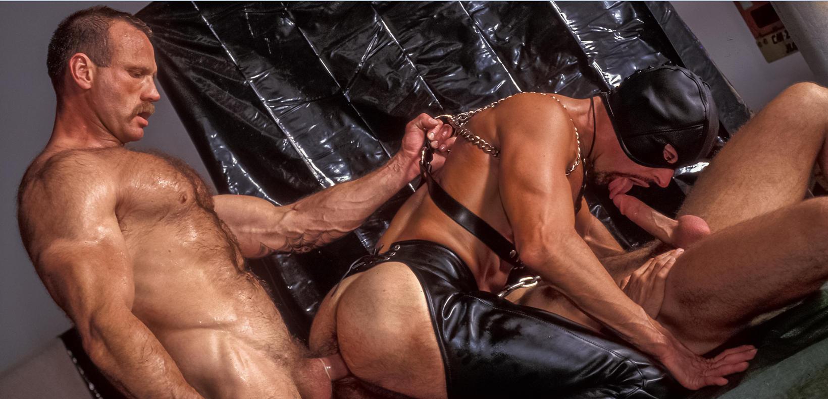 Black men in leather porn