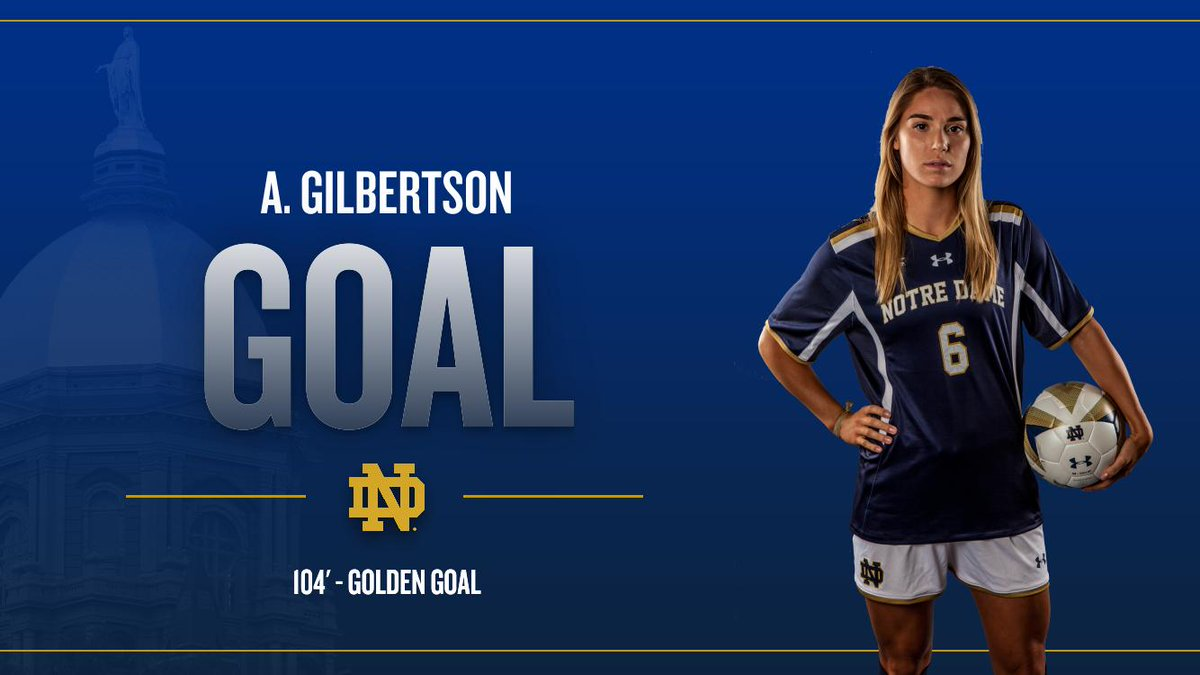 104' - GOAL AND IRISH WIN!!! @anna06maria nets the gamewinner off assist from @natalieejacobs to knock off No. 1 UVA http://t.co/9hMtF8tOIm