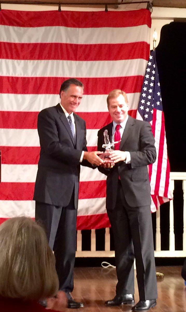 Grateful to @MittRomney for kind words in presenting me with the Spirit of Enterprise Award #mogop http://t.co/I2i1XFiBng
