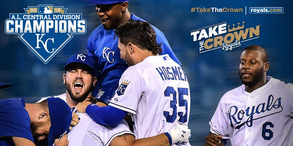 Your Kansas City Royals are the 2015 American League Central Division Champions!!! #TakeTheCrown http://t.co/IP2kPDVzFe