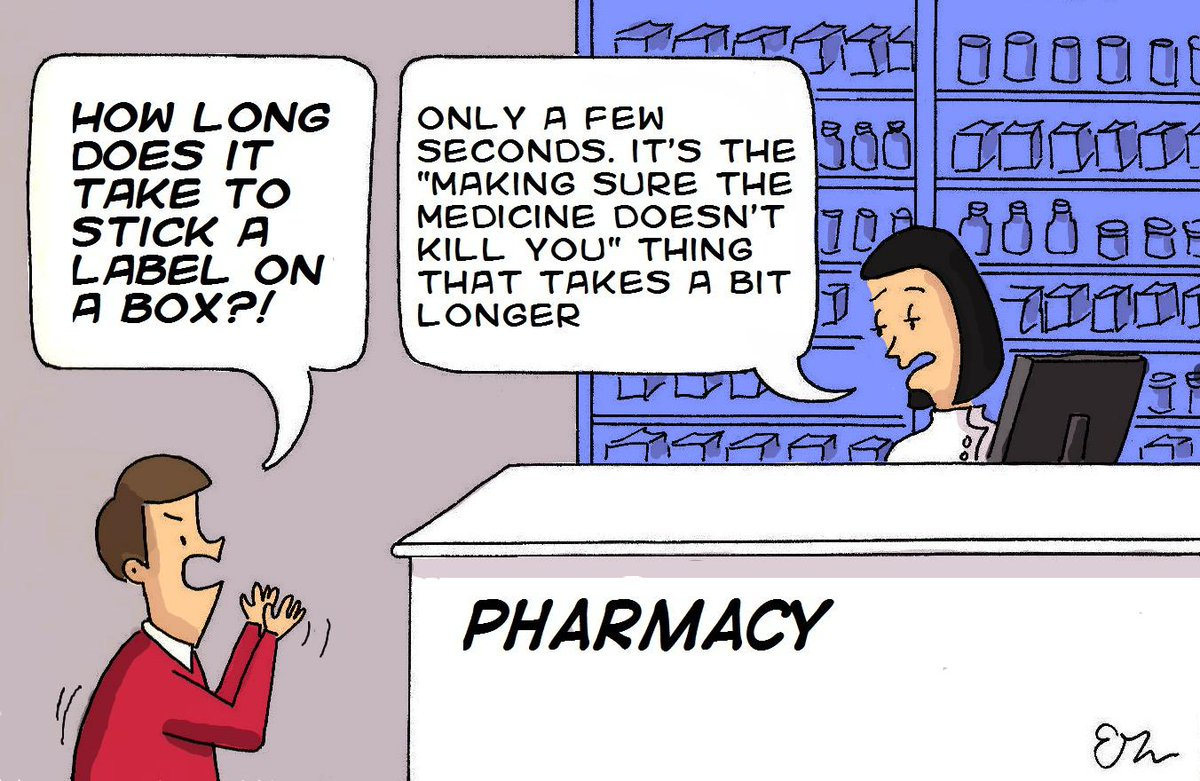 How long does it take to stick a label on a box? Happy #WorldPharmacistDay http://t.co/A0i9TYHhsO