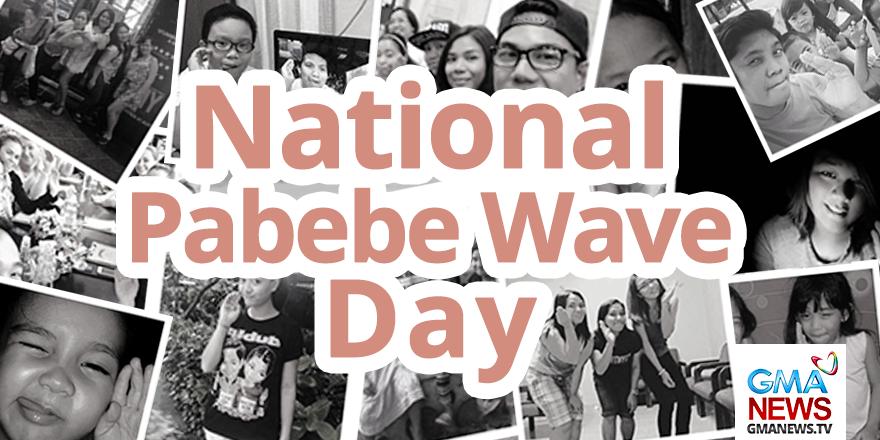 Happy National Pabebe Wave Day, mga Kapuso at Dabarkads! #ALDubEBforLOVE http://t.co/eRgdAZKEie