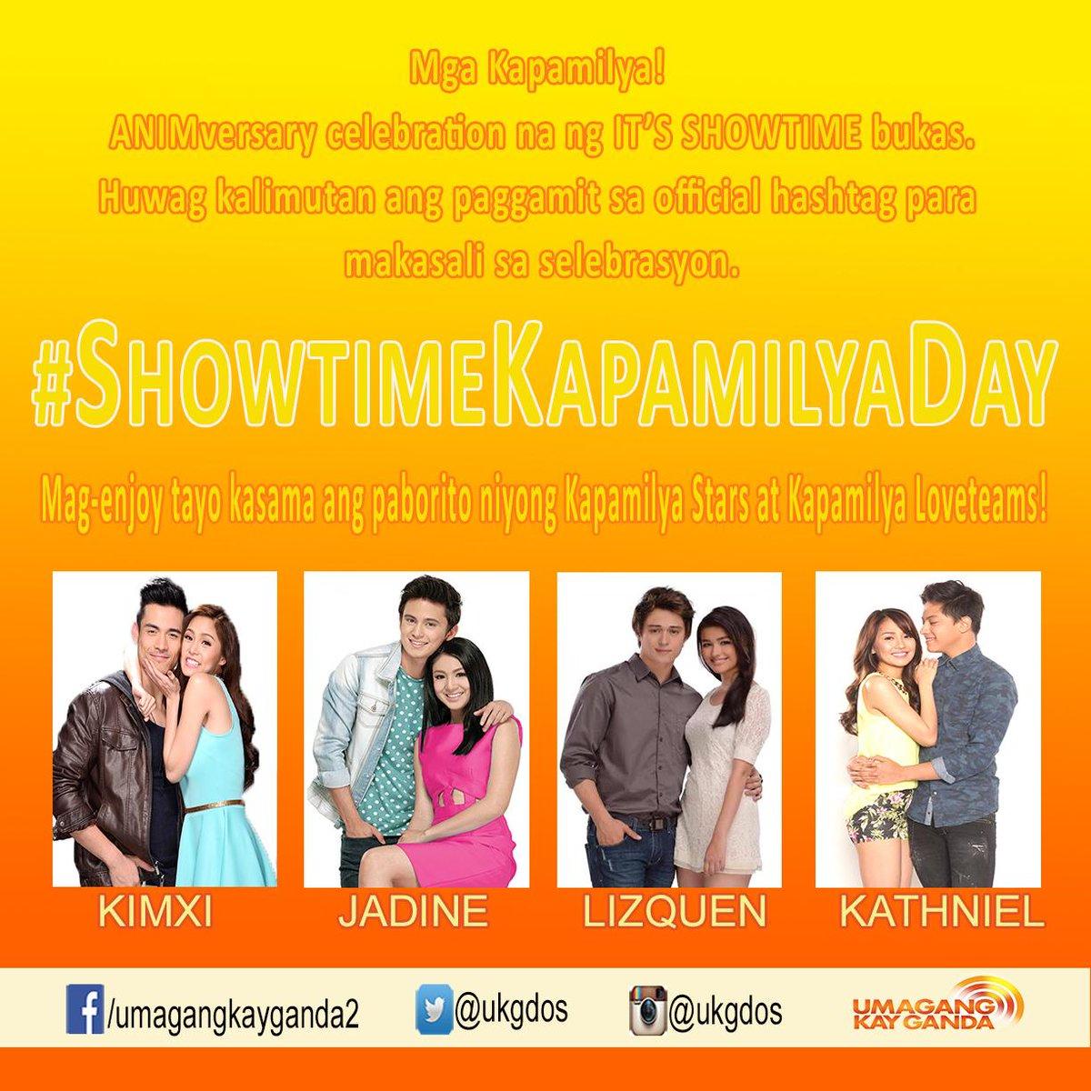 Huwag kalimutan ang paggamit ng official hashtag #ShowtimeKapamilyaDay :) http://t.co/naZqpQ4nK2