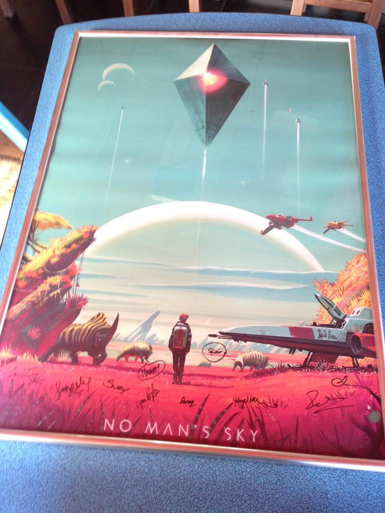 Huge love to @hellogames for putting this together for us, we'll keep you in 'No Mans Pies' for life now http://t.co/wvBNq4ms2p