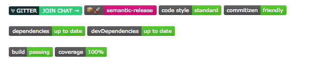 """GitHub badges have become the new """"Valid HTML"""" footer icons –holy shit! #somanybadges http://t.co/RU3WdPkSgA"""