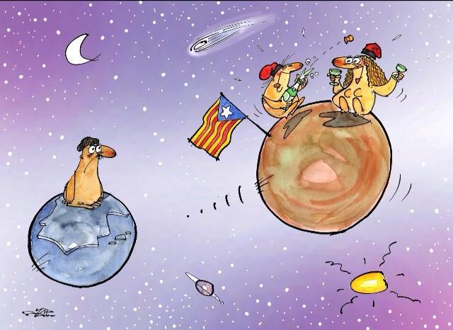 Junts anem més lluny,tan lluny com calgui! Per l'avui i pel demà! #ViscaCatalunya #tuhipintesmolt dibuix de'n JAP! http://t.co/XCfCyJEKku