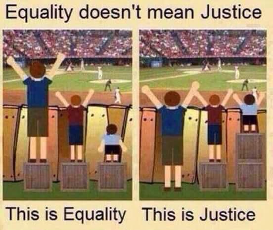 公平不等于正义,图左是公平,图右是正义 http://t.co/PIKPVsqUkX