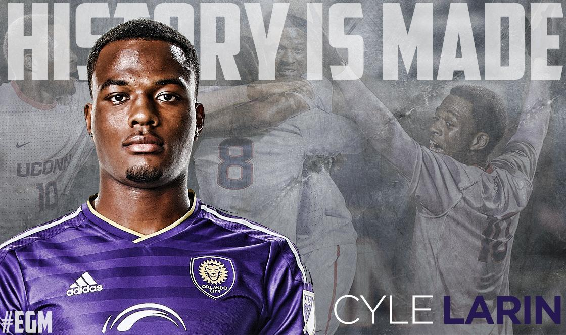 Ladies and gentlemen, the new @MLS all-time rookie scoring leader.   Congrats, @CyleLarin! http://t.co/FTvMRG6J1k