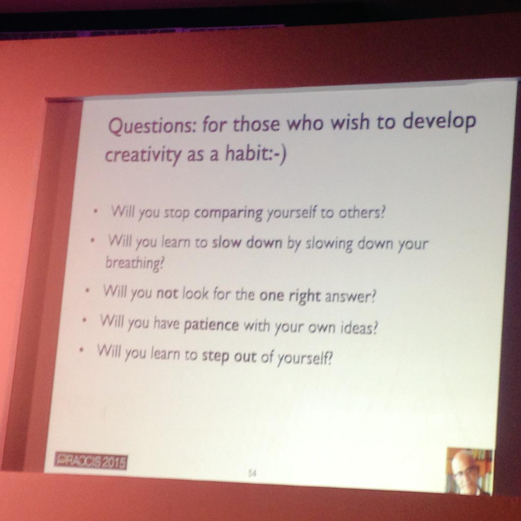 Questions need answers to unblock #creativity #PRAXISMysore @KiranKhalap http://t.co/YkEZGBdpu7