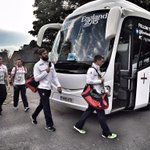 England leave their team hotel bound for Manchester City Stadium #ENGvURU #RWC2015 http://t.co/vjD9TDXexq