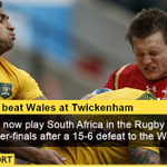 Wales will now play South Africa next Saturday at Twickenham… ???? FT: Australia 15-6 Wales #AUSvWAL #RWC2015 http://t.co/fAKkH6MJ8C